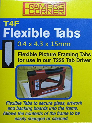 Charnwood T4F Flexible Tab, Pack of 2500 For use With T225 Tab Driver
