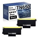 TN650 TN-650 Toner Cartridge Compatible Replacement for Brother HL-5240 5250DN 270DN 5350DN 5370DW MFC-8370 8460N 8470DN 8480DN DCP-8060 8065DN 8085DN Printer Ink Cartridge(2 Pack,Black)