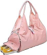 UIYTR Yoga Mat Gym Bag Fitness Bags for Women Men Training Sac De Sport Travel Gymtas Nylon Outdoor Travel Sports Carry On Gym Bag (Pink)