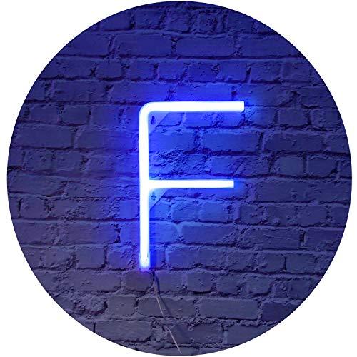 Blaue LED Neon Buchstaben Licht Schild Neon Festzelt Deko Lampe Dekoration für Geburtstag Party Jubiläum Bar Weihnachten Geschenke Hochzeit Party Deko Art Decor F