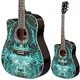 Lindo 42C Apprentice Series Guitare acoustique pan coupé GAUCHER avec housse pour guitare?Noir (brillant)