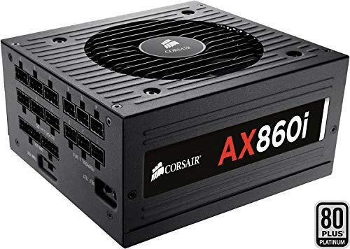 Corsair AX860i Alimentatore PC, Completamente Modulare, 80 Plus Platinum, 860 W, Digital, EU