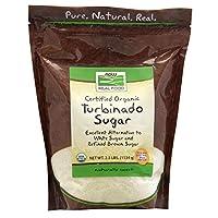 海外直送品Turbinado Sugar Organic, 2.5 lb by Now Foods