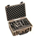 HQ ISSUE Handgun Case with Foam, Carrying Hard Gun Case for Pistol and Ammo (Flat Dark Earth)