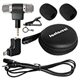 Fantaseal Stereo Mic Kit Microphone Travelling Microphone Interview Microphone w/Stereo Windproof Mic + Extension Cable + Sterero Mic Adapter Converter Compatible with Hero 4/3+ /3