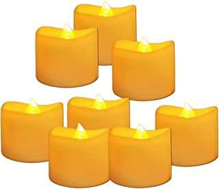 Youngerbaby 24 Pack Flickering Amber Yellow Lighting Battery Operated Candles, Flameless LED Tea Lights Candle for Wedding Centerpiece Votive Holder Party Decor, Electric Warmer Tealight 1.4x1.4 Inch