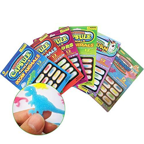 INTVN 72 Stück Kinder Kapsel Spielzeug Kapseln Magic Grow Kapseln Baby Erkennungsspielzeug Lernspielzeug größer im Wasser