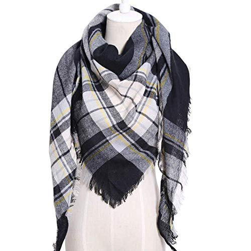 WJSW Dreieck-Winter-Schal-Frauen-Schal-Kaschmir-Acrylplaid-Schal-Decke, 2