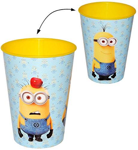 Minions  - als - Trinkbecher / Zahnputzbecher / Malbecher - Becher - Trinkglas aus Kunststoff Plastik - Mädchen & Jungen - für Kinder - Kindergeschirr - Ki..