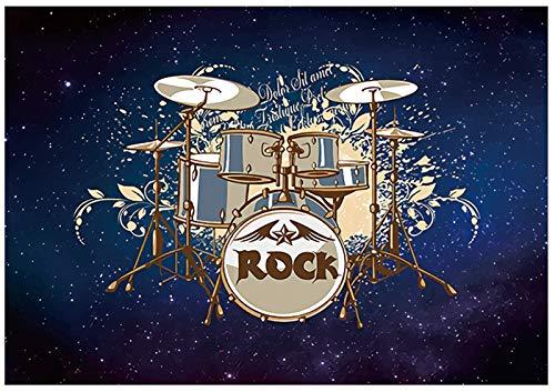 ZXHH rutschfeste Trommelmatte Quadratische Schallschutzdecke Schlagzeugteppich Drum Rug Trommel Teppich Drum-Teppich Trommelteppich Für Bass Drum Snare elektronische Trommel Stoßdämpfer (160 * 120CM)