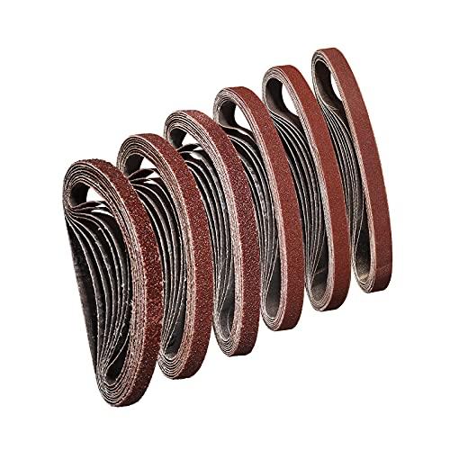 Sruhrak Schleifband 10 x 330 mm,Schleifband Set je 8 x Korn 40/60/80/120/180/240 für Bandschleifer Schleifmaschine,Am besten für Holz und Farbe(48 Stück)