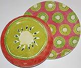 Queenwest Trading Company'Kiwi' 100% Melamine Salad & Dinner Plates - Set of 8
