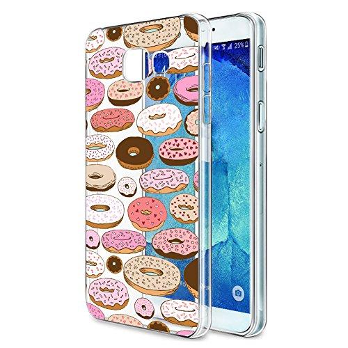 Funda Samsung Galaxy A5 2017, Eouine Cárcasa Silicona 3D Transparente con Dibujos Diseño Suave Gel TPU [Antigolpes] de Protector Bumper Case Cover Fundas para Movil Samsung Galaxy A5 2017 (Donuts)