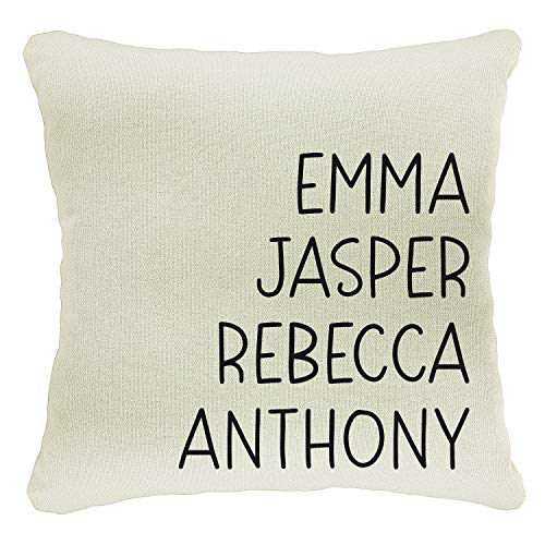 Personalized Initial Family Name Throw Pillow Case