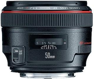 Canon EF 50mm f/1.2L USM - Objetivo para Canon (Distancia Focal Fija 50mm Apertura f/1.2-16 diámetro: 72mm) Negro