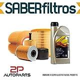 Kit tagliando auto, kit quattro filtri e 4 litri olio motore GM 5W30 (KF0028/fo)
