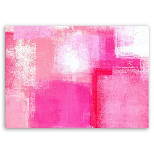 Bilderdepot24 hochwertiges Leinwandbild - Pink Abstract - 70 x 50 cm einteilig 1238