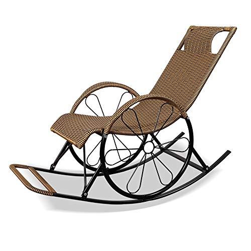 Fauteuils inclinables Feifei Chaise à Bascule d'intérieur multifonctionnelle de Chaise Longue extérieure de rotin de Chaise de Patio de Chaise de Patio de Loisirs (Couleur : 08)