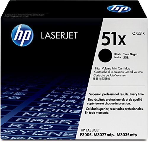 HP 51X (Q7551X) Schwarz Original Toner mit hoher Reichweite für HP Laserjet HP Laserjet P3005, M3027, M3035