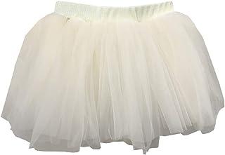 d313f0aafa37c YFCH Mini Jupe Tutu Danse Fille Princess Jupe Tulle Vintage Ballet Fête  Soirée Spectacles Fantaisie Costume