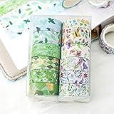 RAILONCH Washi Tape Set 12 rollos de 15 mm de ancho, cinta adhesiva decorativa para scrapbooking, manualidades, Bullet, embalaje de regalo, decoración de vacaciones
