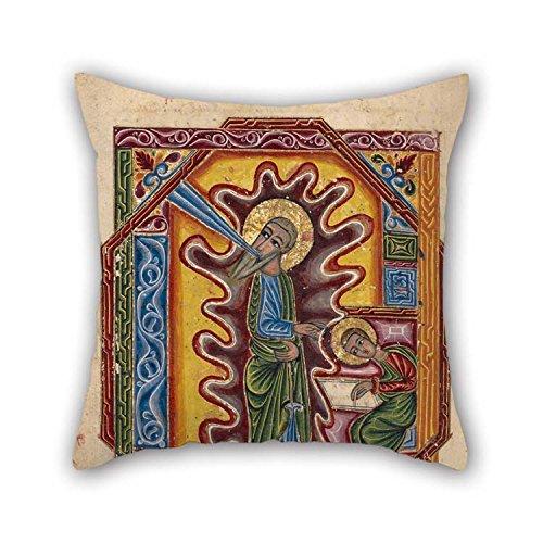 PINTURA al óleo de Mesrop Khizan (Armenia, activa 1605–1651)–Saint John The Evangelist cojín casos mejor para banco de cine en casa habitación de los niños ropa de cama coche casa 20x 20pulgadas/50por 50cm (doble si