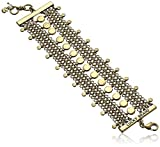 Lucky Brand Women's Champagne Set Stone Chain Statement Bracelet, Gold, One Size