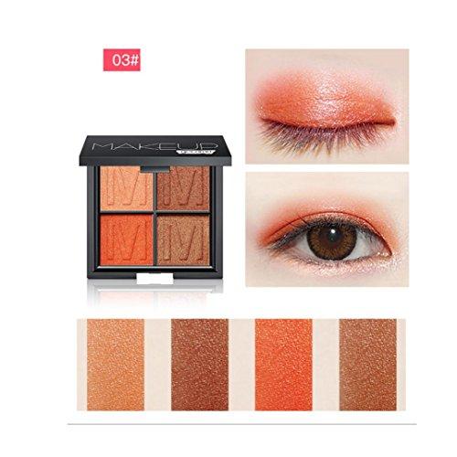Coloré(TM) Palettes de maquillage Eyeshadow plaque imperméable à l'eau paillettes Eyeliner Shimmer maquillage cosmétiques (Multicolor C)