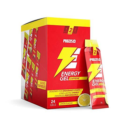 Prozis 24 x Energy Gel + Caffeine Fácil de Llevar Fuente de Hidratos de Carbono de Elevada...