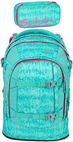 Satch Pack Aloha Mint 2er Set Schulrucksack & Schlamperbox