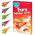 Geefuun Valentine's Day Cards for Kids- 42 Paper Airplane Cards + 42 Envelopes+ 132 Stickers Heart Crafts School Classroom Exchange Party Gift Favor from Geefuun