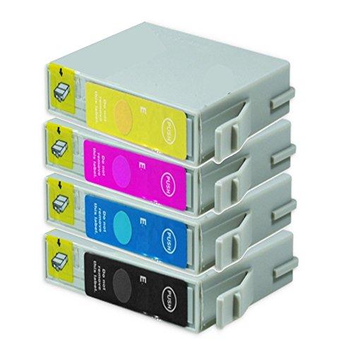 4 cartuchos de tinta Epson Stylus Photo RX 420 Stylus Photo R240 sustituye a T0551 T0552 T0553 T0554