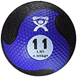 CanDo Firm Non-Slip, Dual-Textured, Weighted Medicine Ball for Exercise, Workouts, Plyometrics, Warmups, Core Training and Stability. 9' Diameter - Blue - 11 lb