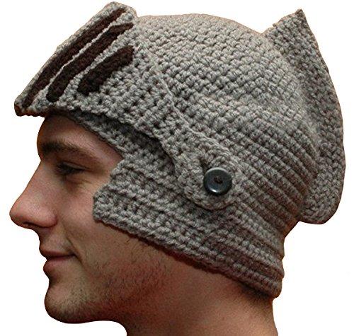Kuyou Winter Strickmütze Warme Beanie Unisex Skimaske Cap, Grau, Einheitsgröße