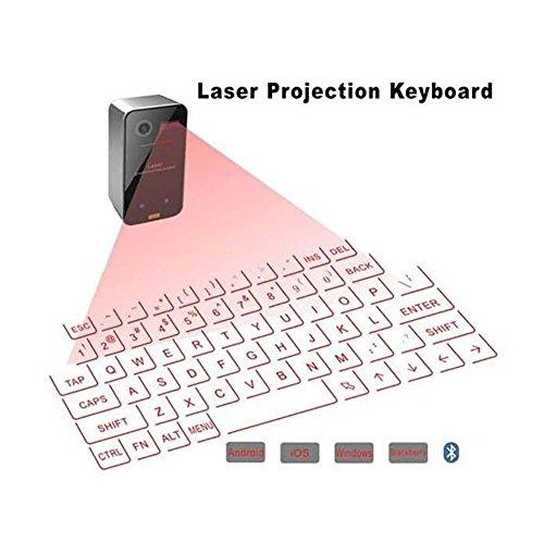 SHANGXIAN Láser Proyección Teclado Inalámbrico Bluetooth Virtual Teclado Y Ratón, Negro