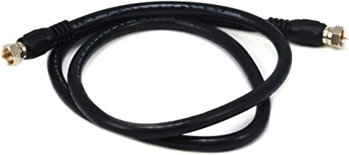Monoprice 103030 75 Ohm Quad Shielded CL2 F-Type  Coaxial RF Cable