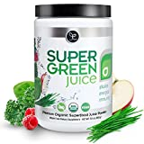 Super Green Juice - Certified USDA Organic Superfood Supplement Powder - 44 Organic Superfoods + Probiotics + Digestive Enzymes + Antioxidants - Best Tasting Vegan Greens - 10.5 Ounce (30 Day Supply)