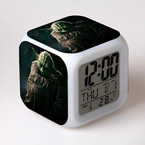 SXWY Sveglia Star Wars Digitale, Colorful Lights Mood Alarm Clock Quartet Disponibile Ricarica USB Adatto A Bambini E Ragazzi Bambini Regali Speciali,2