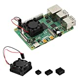 iuniker Raspberry Pi 4 - Ventilador disipador de calor para Raspberry Pi 3 B+, Raspberry Pi 3b, Raspberry Pi 2 y otros ordenadores de una placa