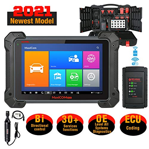 Autel MaxiCOM MK908 with MV108 Car Diagnostic Scan Tool 2021 Newest with ECU Coding, Bi-Directional Control, Active Tests, OE-Level All Systems Diagnosis & 31+ Services Functions, Upgraded of MS906BT