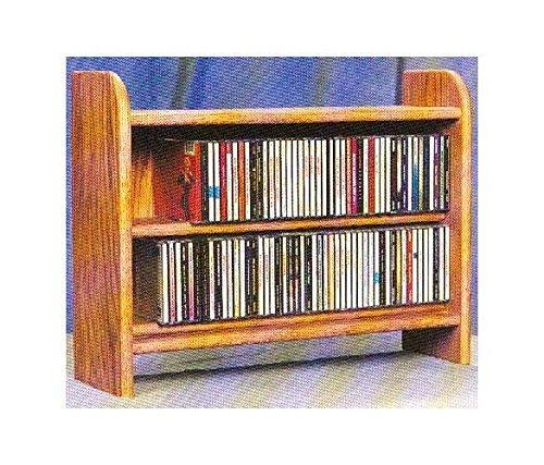 2 Shelf CD Storage (Honey Oak)