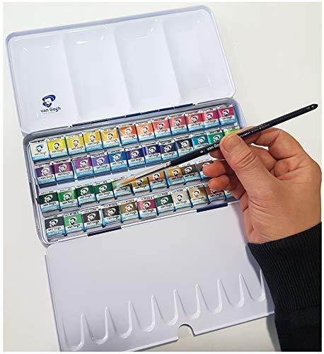 Estuche Pocket Box 48 Acuarela Van Gogh - El National Gallery - Metal Caja de48 Acuarelas con Pincel