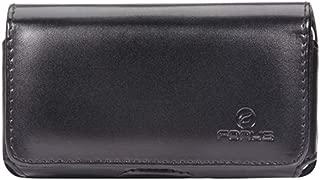 Swivel Leather Case Belt Clip Holster Loops Cover Pouch Carry J7W for BLU Vivo 5R 5, Advance 5.0 - CAT S40 - Coolpad Defiant, Canvas, Illumina - Doro Doro 824 SmartEasy - Google Pixel XL 3a 2