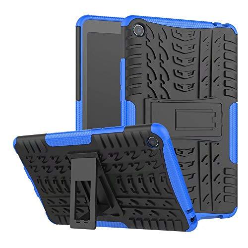 weichunya Hyun patrón de Doble Capa híbrido Armor Kickstand 2 en 1 Caja de la Tableta a Prueba de choques for Xiaomi Mi Pad 4 / Mipad 4 (8,0 Pulgadas) (Color : Blue)