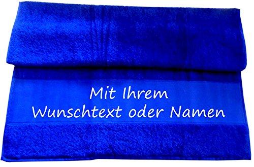 Druckreich Badetuch mit Ihrem Wunschtext oder Namen 140 x 70 cm/Fb. Royal