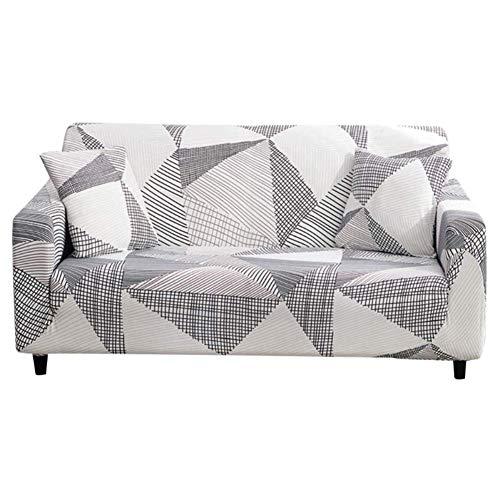 Vommpe - Funda de sofá con reposabrazos para salón, diseño geométrico Extensible, 1Places (40-90cm)