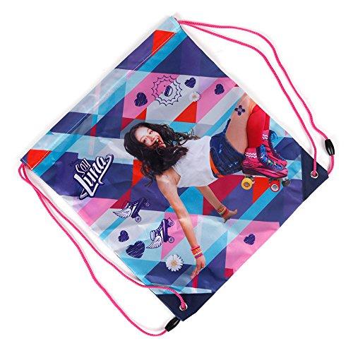 Kinder Turnbeutel/SPORTBEUTEL 36x32 cm - Disney Soy Luna Collection - PINK/BLAU/ORANGE