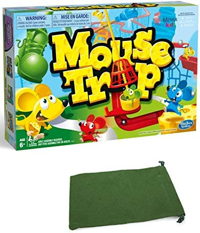 The Mouse Trap Board Game for Kids Bundle with Drawstring Bag product image