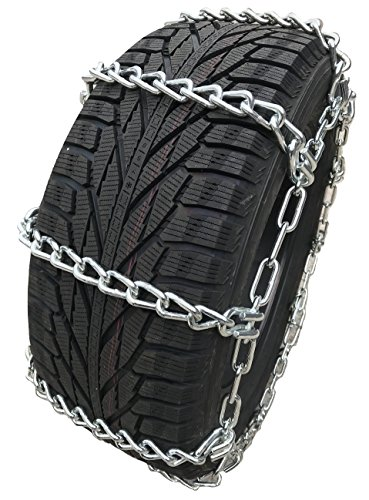 TireChain.com 235/80R17, 235/80 17 Extra Heavy Duty Mud Tire Chains Set of 2 (2437-16)