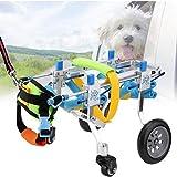 SONGTINGtarpaulin Silla de Ruedas Ajustable para Mascotas Kit de Carro de Silla de Ruedas para Perros de 4 Ruedas para Perros con discapacidad Kitten Bomei Walker